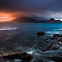 Elgol sunset storm