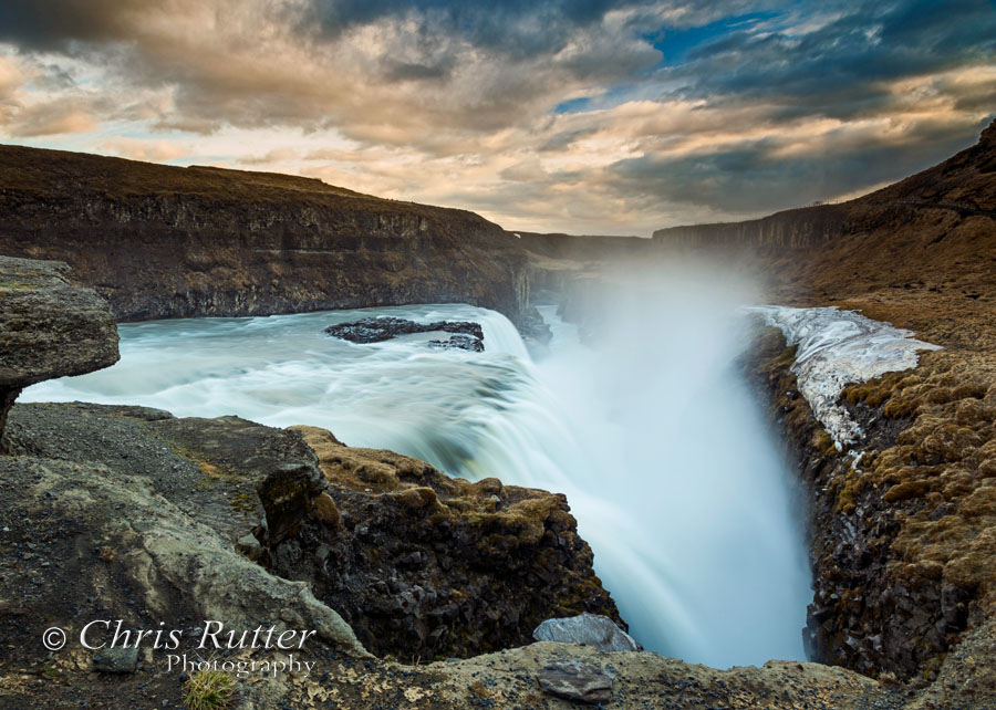 Gullfoss sunset 1