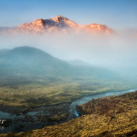 Misty dawn, Glen Shiel