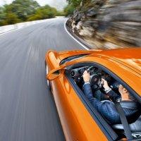 Porsche Boxster S driving