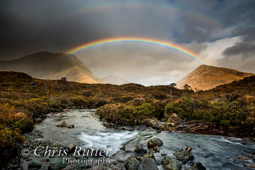 Rainbow over the Red Cuillin