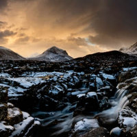 Sligachan sunset snow 2