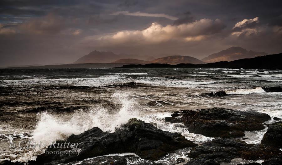 Stormy seas Tarskavaig
