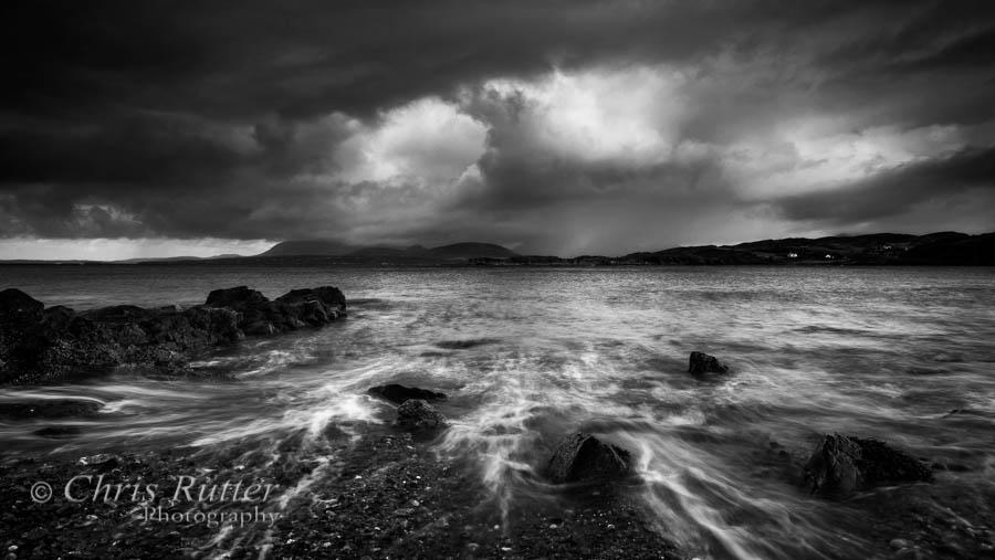 Tarskavaig rocks and sea