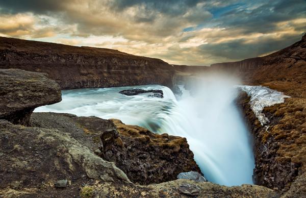 Gullfoss sunset, Iceland