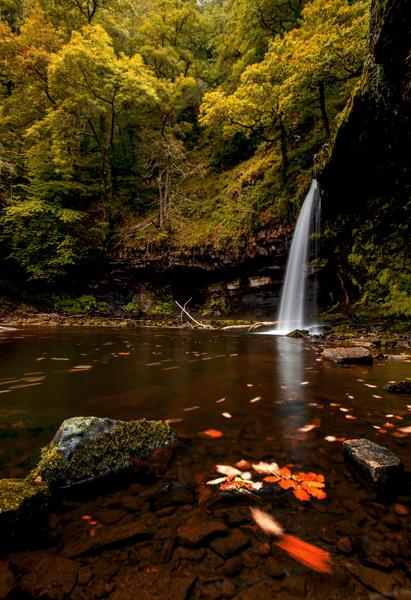 Sgwd Gwladus waterfall, South Wales