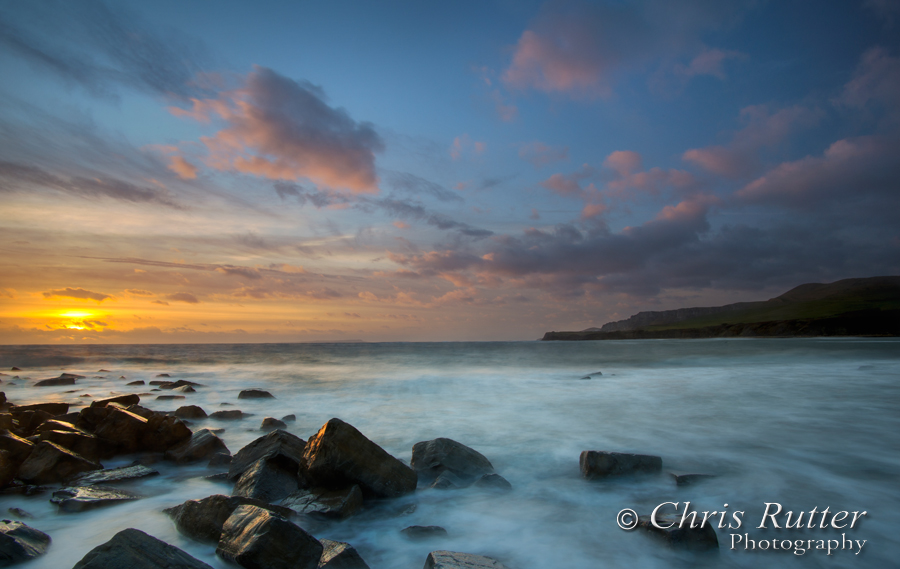 kimmeridge sunset