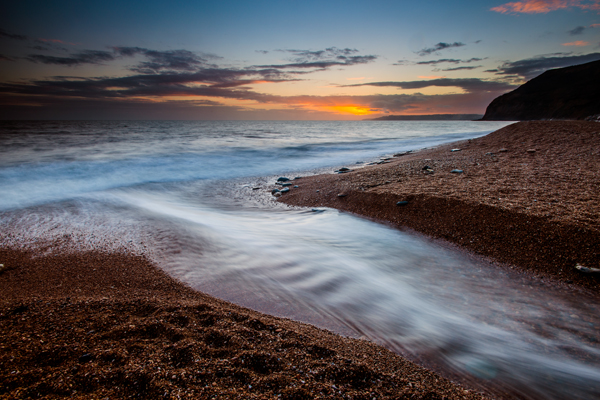 Seatown, Dorset, sunset