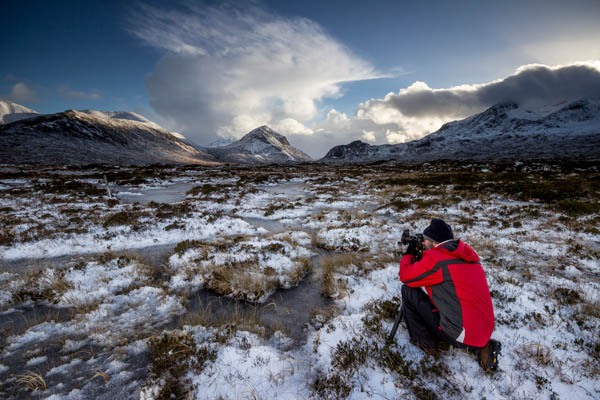 shooting the snowy Cuillins