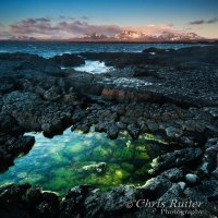 snaefellsness iceland sunset