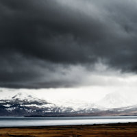 storm mountains iceland