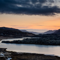 sunset snaefellsness iceland