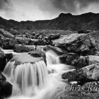 waterfall llyn idwal wales mono