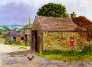 'Farmyard at Nether Booth, Edale'