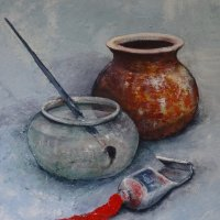 Pots, Paint & Brush