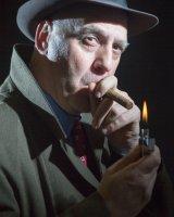 Enjoying a Cigar; 2nd place in B esction prints; by John Sykes