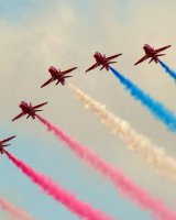 Red Arrows 25th Anniversary diplay at Southport; 3rd place in B section prints; by Phillip Green