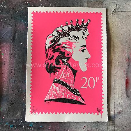'Princess Diana Stamp' Pink <span style=