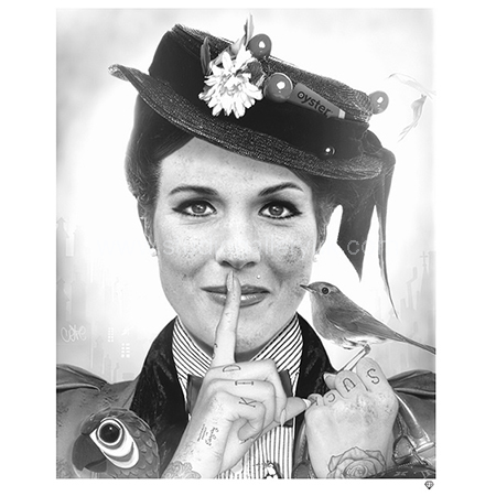 'Spoonful Of Sugar' Mary Poppins B&W <span style=