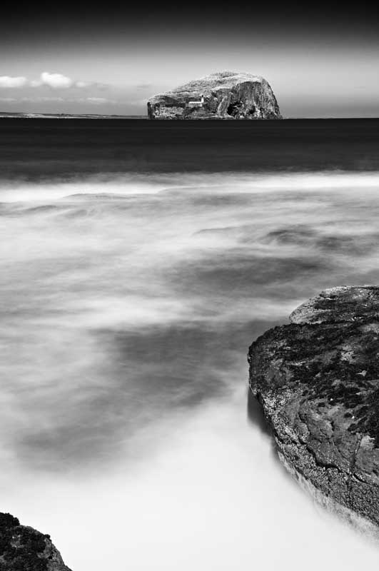 Bass rock0021b&w