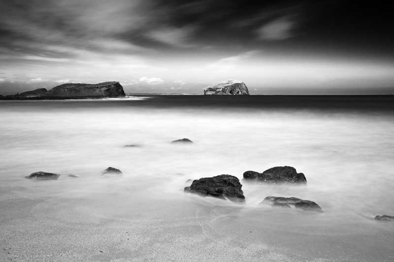 Bass rock0042b&w