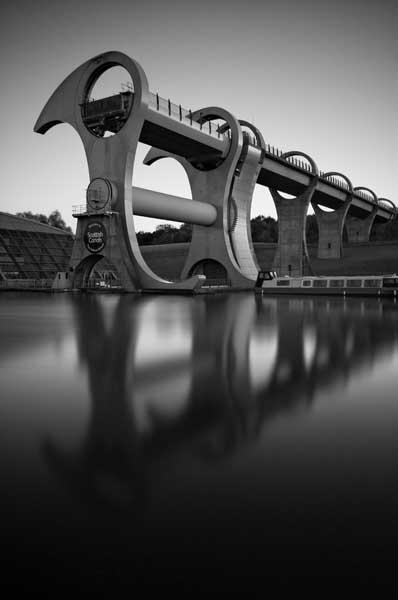 Falkirk wheel075b&w