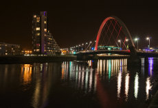 Finnieston night reflections 0032