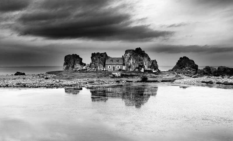 House in the Rocks0053b&w