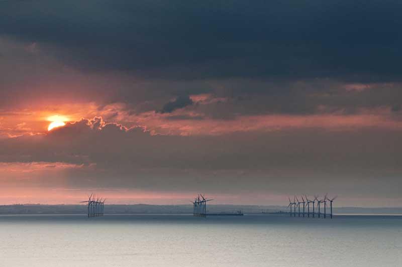Wind farm sunset008