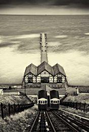 Saltburn pier0007b&w
