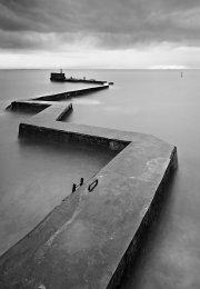 St Monans breakwater0016b&w