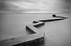 St Monans breakwater0028b&w