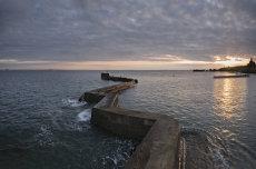St Monans breakwater sunset0033-34