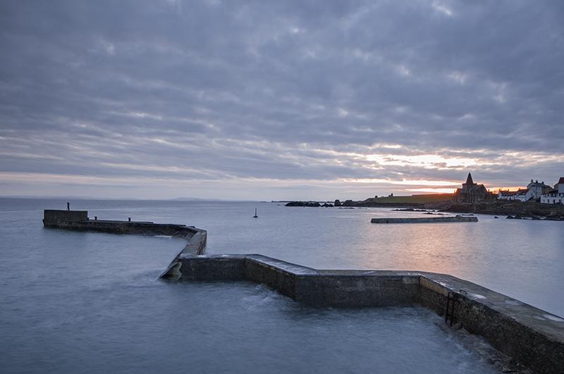 St Monans breakwater sunset0052