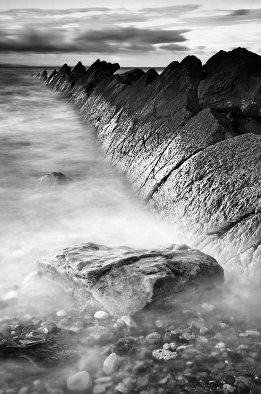 St Monans rocks0009b&w