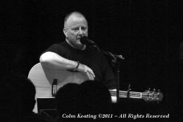 Christy Moore at a benefit gig in Mother Red Caps