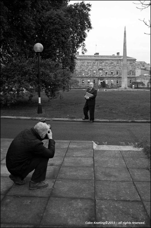 Pat Rabitte...outside the Dáil