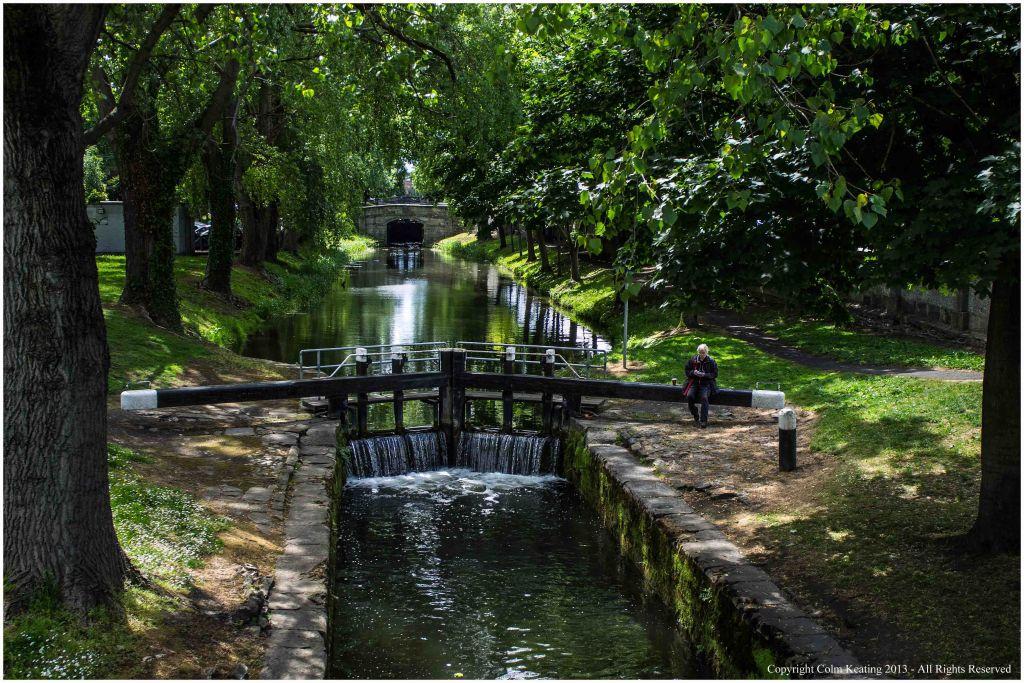 Grand Canal Lock near Lower Mount Street