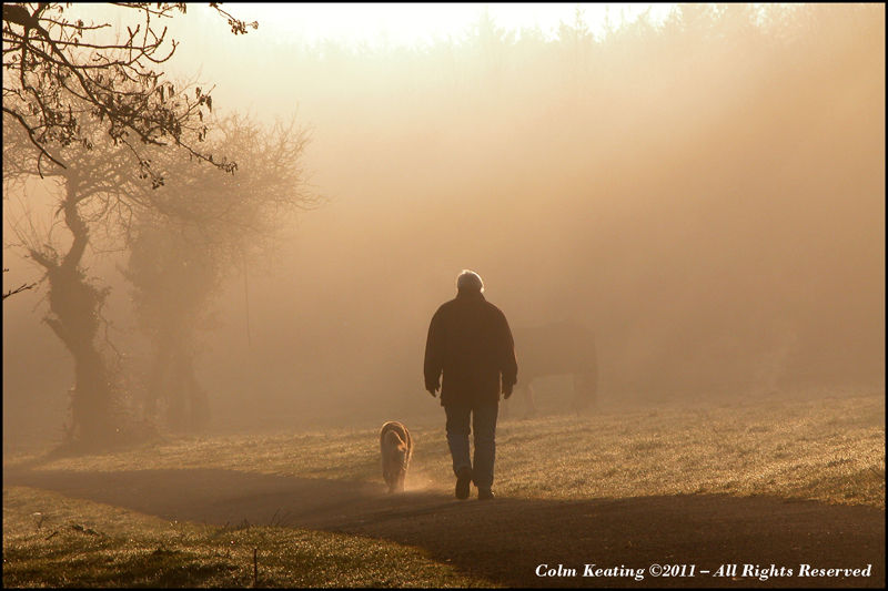 Walking the dog...