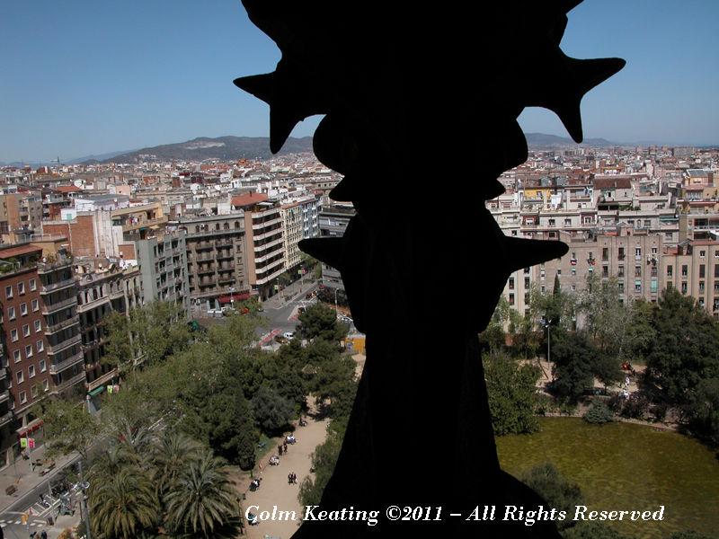 Barcelona City, from Gaudi's Sagrada Familia