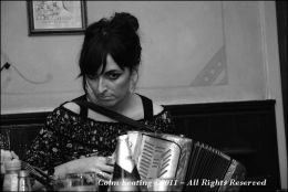 Paula Hanley, Accordian Player, at Féile Frank McGann 2009