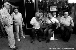 Gerry O'Connor, fiddle and Peter Carberry, accordion at the Cavan Fleadh, 2011