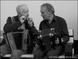 Discussing the minutiae of playing - John Regan & Johnny Connolly
