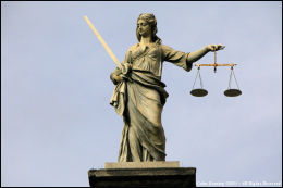 Scales of Justice - at Dublin Castle.