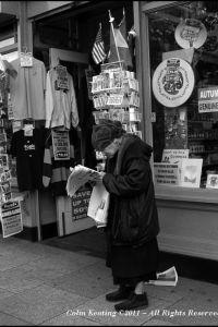 "Outside ""Reads"" of Nassau Street."