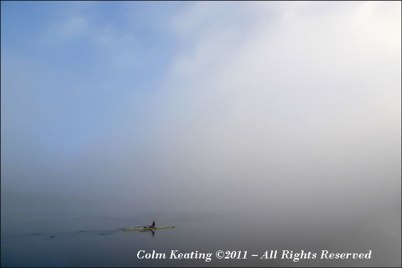 Rowing into the mist