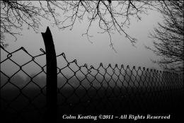 Perimiter Fence in Fog - Islandbridge
