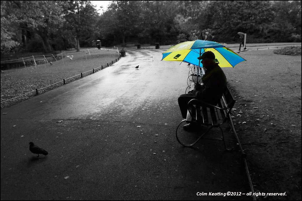 I'm sitting in the rain...
