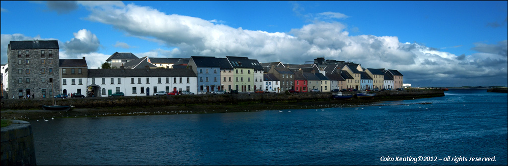 The Long Walk, Galway viewed from Claddagh.