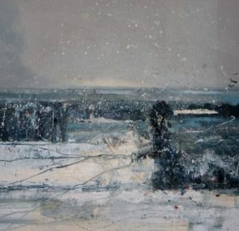 Winter Snowstorm (New Forest) 2010 Rosemary & Co Art Award winning painting Society of Women Artists
